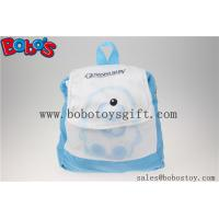"Wholesale 11.8""Blue and White Children Backpack Has a Pattern of Bear Bos-1232/30cm from china suppliers"