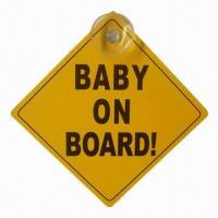 Wholesale Childproofing Baby Safety Product, Babies on Board Car/Warning Sign with One Suction Cup from china suppliers