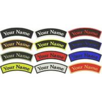 Wholesale Curve Custom Embroidered Name Tag Iron Or Sew On Patch Quality Badge from china suppliers
