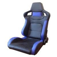 Wholesale Multi Material Blue And Black Racing Seats , Leather Racing Seats 95*67*57cm from china suppliers