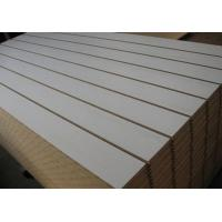 Quality Cosmetics Shop Gray Wooden Slatwall Panel With Slots Or Grooves for sale