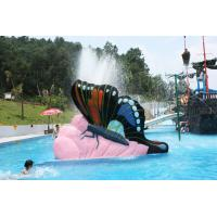 Wholesale Indoor Water Playground Equipment Kids Water Pool Slides Butterfly Fiberglass from china suppliers
