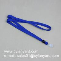 Wholesale Cheap tubular polyester lanyard with card tag, polyester tube lanyard with card strap, from china suppliers