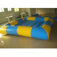 Wholesale Rectangular Yellow / Blue Inflatable Above Ground Pools , Inflatable Family Pool For Backyard from china suppliers