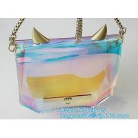 Wholesale laser PVC new material printing shoulder tote bag, Girls Shoulder Tote Beach Bag, Ladies Transparent PVC Beach Handbag from china suppliers