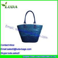 Dyed Cheap Straw Tote Bag Wheat Grass Beach Tote Bag Of