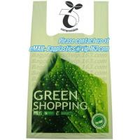 Wholesale green bagsl, vest carrier, carrier bag, shopping bags, shopper, handy bag, handle from china suppliers