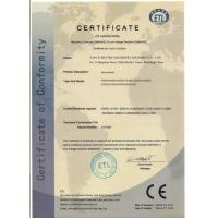 Yantai Sincere Machinery Equipment Co., Ltd.  Certifications