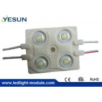 Wholesale Acrylic Letters SMD 5730 Injection 4 Led Module , Square Led Module IP65 2.4w DC12v from china suppliers