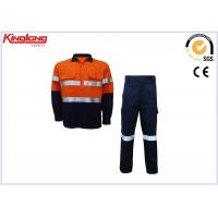 Wholesale Customize Mens Hi Vis Clothing Safety Cotton Twill Fabric Long Sleeve Shirt And Pants from china suppliers