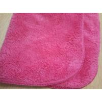 Quality No chemical Microfiber Cleaning Cloth red coral fleece 30*40  terry towel for sale
