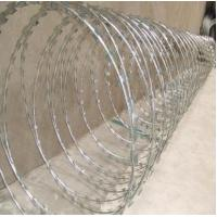 Wholesale 2.5mm Electro Galvanized Razor Barbed Wire Fencing For Protection, Government Building from china suppliers