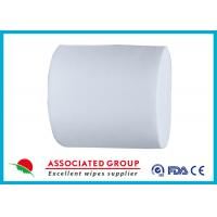 Wholesale White 30~110GSM Spunlace Nonwoven For Household Cleaning Wipe Wet Tissues from china suppliers