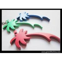 Wholesale Aluminum palm tree key chain bottle opener free sample cheap price different color opener from china suppliers