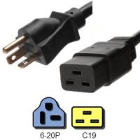 Wholesale IEC 60320 C19 Connector 3 Pin Power Cord NEMA 6 - 20P Male End 20A 250V from china suppliers