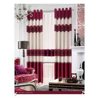Wholesale Shrink-Resistant Polyester Luxury Ready Made Curtains , Ring And Splice from china suppliers