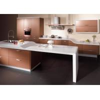 Wholesale Sliver Champagne Lacquer Kitchen Cabinets , High Gloss Kitchen Storage Cabinet from china suppliers