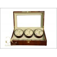 Wholesale OEM Tempering Glass Triple Watch Winder Box For Automatic Watches from china suppliers