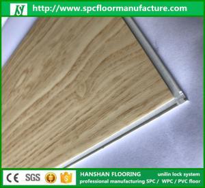 Quality 100% Virgin PVC Material PVC Vinyl Click Plank SPC Vinyl Plank Flooring From Hanshan for sale