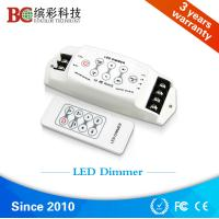 Wholesale China DC 12V 24V 3 channels led light dimmer, strobe flash RF single color led dimmer from china suppliers