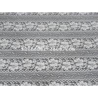 Delicate Flower Striation Spacing Stretch Lace Fabric With Nylon Spandex Material For Dress SYD-0173