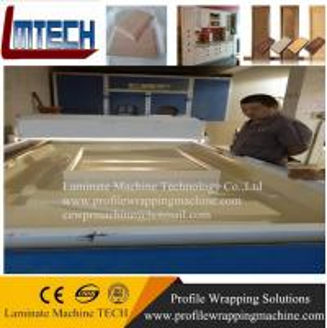 Wholesale wood grain kitchen cabinet door vacuum membrane press machine from china suppliers