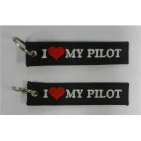 Wholesale I Love My Pilot Embroidered Banner Key Rings from china suppliers