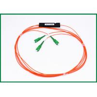 Buy cheap 1x2 1310 / 1550nm Optical Cable Splitter , Wavelength Independent Fiber Coupler 2x2 from wholesalers