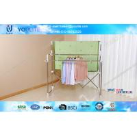 Wholesale Foldable Standing Telescopic Clothes Rack with Stainless Steel Pipe for Home Bedroom from china suppliers