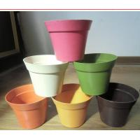 Wholesale biodegradable decorative flower pot , plant fiber flower pot from china suppliers