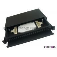 Wholesale Black rack mount patch panel , Optical Terminal Box With Front Fiber Guide Panel from china suppliers