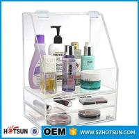 Buy cheap Diamond Handle Clear Acrylic Makeup Organizer, Acrylic Makeup Drawer Box, Flip Cover Acrylic Cosmetic Storage Boxes from wholesalers