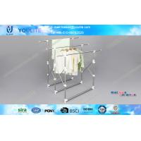Quality Movable Retractable Metal Clothes Drying Rack Portable ABS Plastic for Commercial for sale