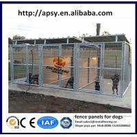 Buy cheap Steel wire round tube welded dog pens modular fence panels for small animals waterproof dog wire kennels manufacturer from wholesalers