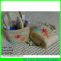 Wholesale LDMC-013 fashion kids beach bags handmade embroidery star wheat straw handbags from china suppliers