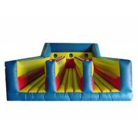Wholesale Three Lanes Inflatable Bungee Trampoline , Inflatable Amusement Park For Children from china suppliers