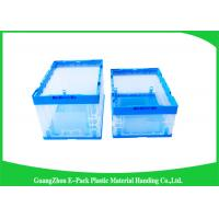 Quality Virgin PP Collapsible Plastic Storage Boxes With Lids  , Foldable Plastic Container Waterproof for sale