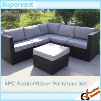 Wholesale Resin Wicker Patio Furniture Outdoor Sectional Sofa Set with Dark Brown Wicker from china suppliers