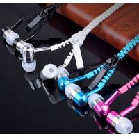 Wholesale 2017 best sellers metal earphone mobile-phone headphone zipper earphone fashion gloden headphone from china suppliers