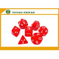 Buy cheap Poker Accessories White / Solid 4 6 8 10 12 Polyhedral Dice Set , Custom 20 Sided Dice from wholesalers