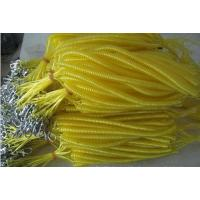 Wholesale Long retention rope fishing coil tether safety yellow plastic line cord with mtal hooks from china suppliers