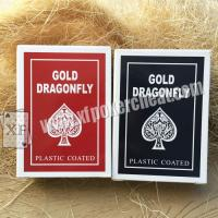Wholesale Gold Dragonfly Plastic Coated Playing Cards With 2 Regular Index from china suppliers