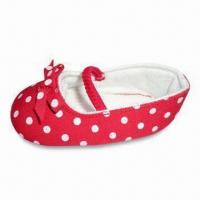 China Infant/Soft Sole Baby Shoes with Canvas Upper and Textile Lining, Available in Various on sale