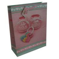 Wholesale Offset Printing Pink Art Paper Carrier Bags CMYK / Accepted Customized For Gift from china suppliers