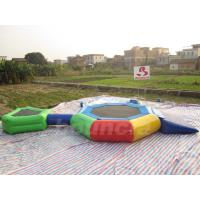 Wholesale 0.9mm PVC Tarpaulin Inflatable Aqua Trampoline Combo For Swimming Pool from china suppliers
