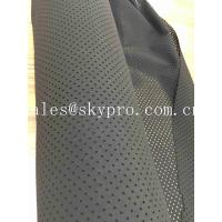Quality Perforated Neoprene Fabric Roll Shark Skin Embossed SBR CS CR Rubber Sheets With Holes for sale