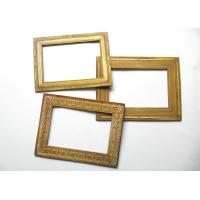 China Blank Golden Fridge Magnet Photo Frame / Advertising Magnetic Picture Frames on sale