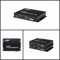 Quality ROHS DVI To Fiber Converter DVI Transmitter & Receiver With 1ch Reverse Data for sale