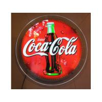 Wholesale Round Crystal LED Light Box Wall Mounted Single Sided For Decoration from china suppliers