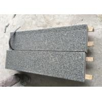 Buy cheap New G603 cheap granite slab stair tile White / Grey tile polished flamed from wholesalers
